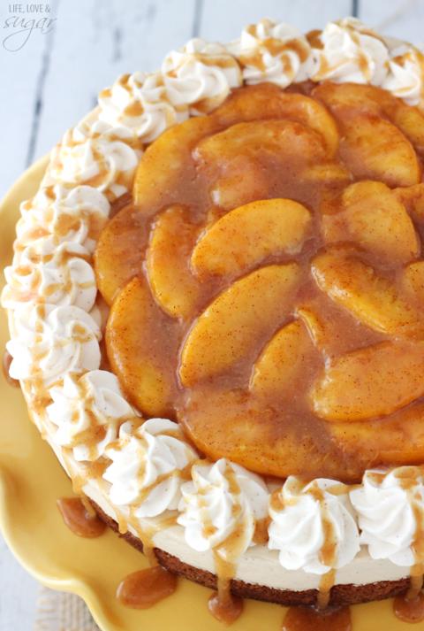 Peach Caramel Blondie Cheesecake   Best Cheesecake Recipe