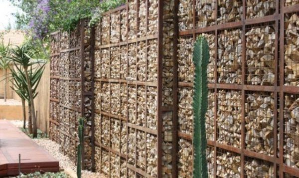 Gabion Walls Design putting in the end panels for each section Gabion Wall Design Ideas