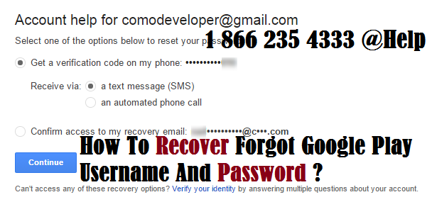 reset google play email and password