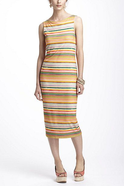 Maybe different colors for me, but love the shape. #Anthropologie #Mia Christopher #Color Spectrum Midi Dress