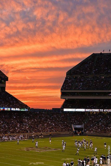 Sunset Over Kyle Field Kyle Field Texas Aggies Photo