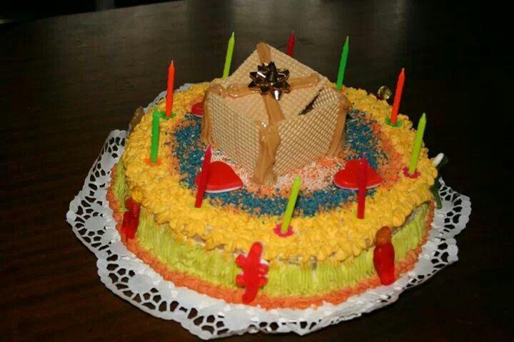 Pastel caja de regalo