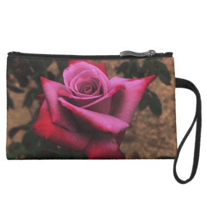 3a23b5c43b8 Pink and Red Rose with Sepia Background Suede Wristlet Wallet - red gifts  color style cyo diy personalize unique
