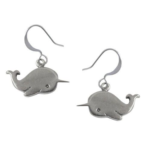 Handmade Gifts | Independent Design | Vintage Goods Narwhal Earrings - Valentine's Day - I love ME!! - Valentine's Day!