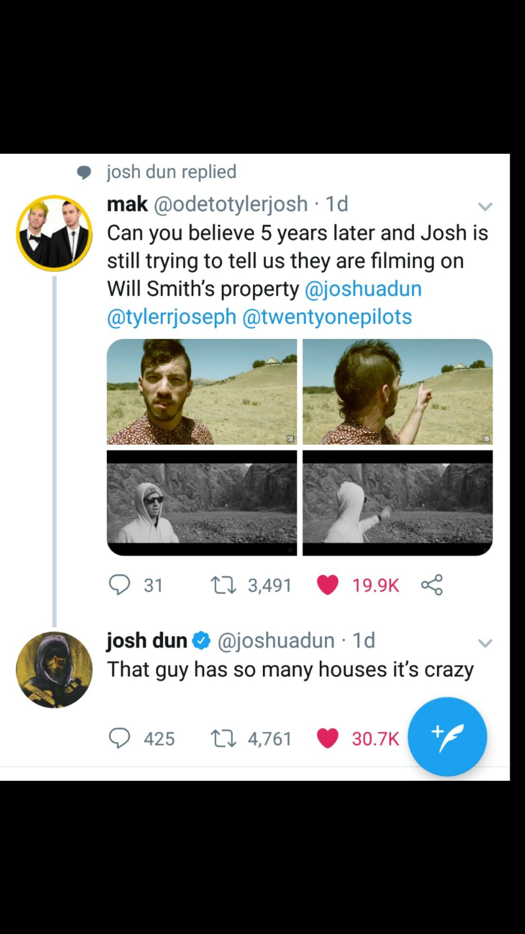 Josh Dun On Filming Music Videos On Will Smith S Property Josh