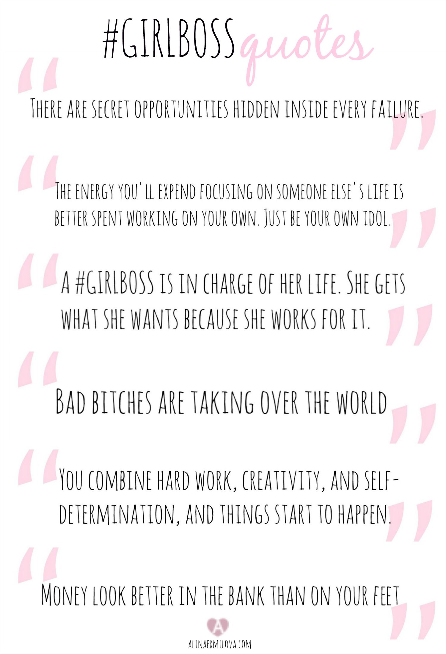 Girl Boss Quotes, Boss Babe Quotes