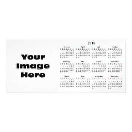 Create Your Own 2018 Custom Calendar Magnetic Card Create Your