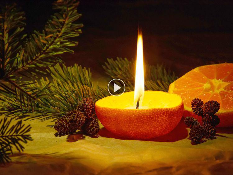 DIY Noël rapide et facile faire une bougie avec une