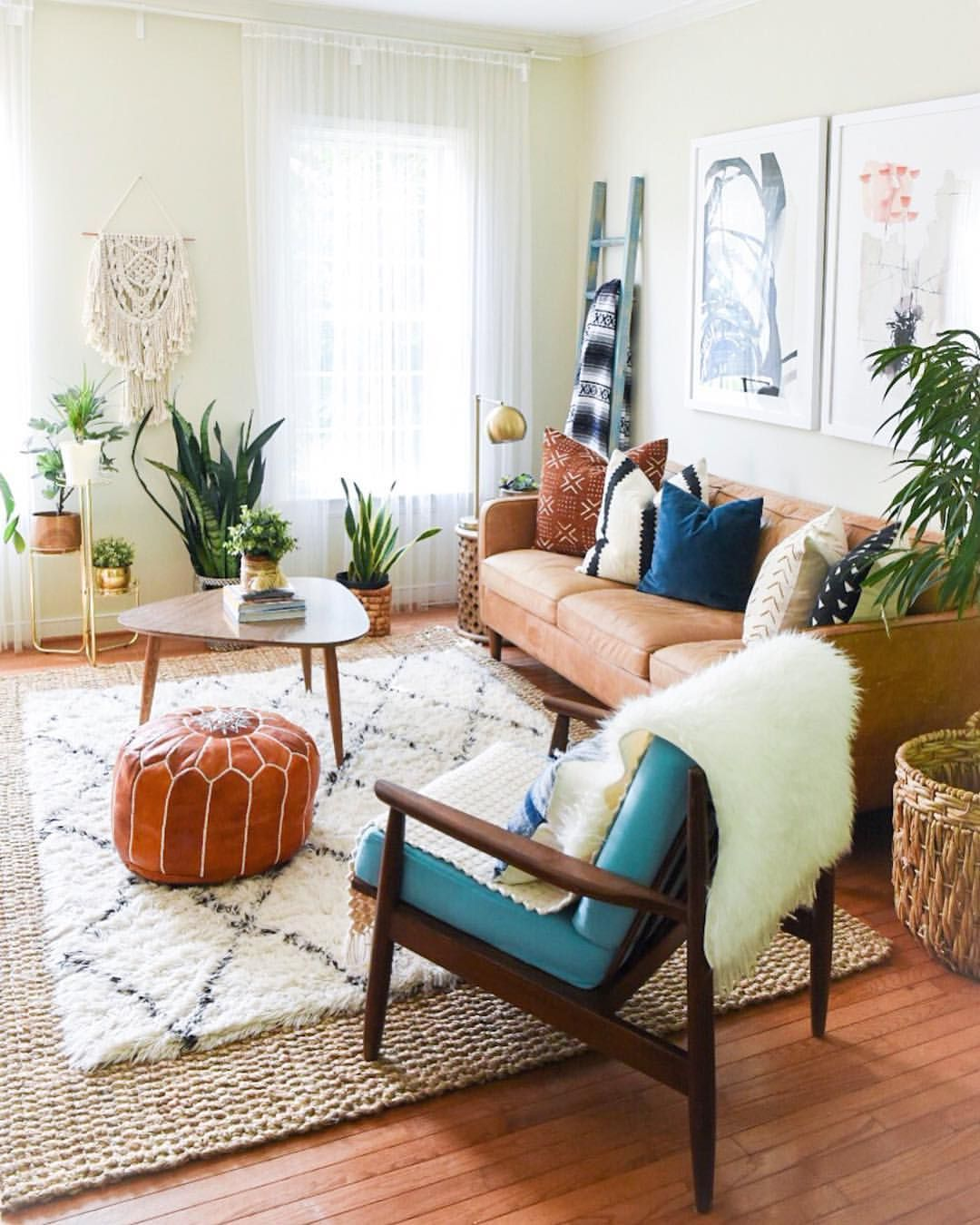 i love my boho chic living room with a few simple changes i