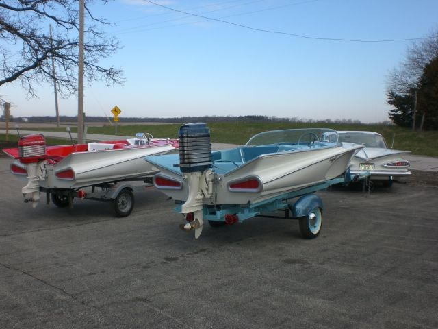 59 Chevy Styled Fin Boats Very Cool Vintage Boats