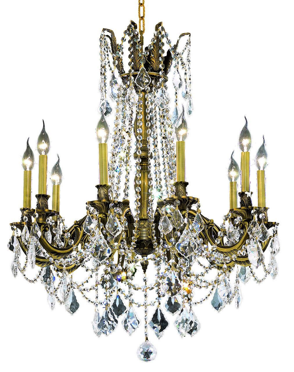 Rosalia 10 light crystal clear chandelier in antique bronze finish rosalia 10 light crystal clear chandelier in antique bronze finish 9210d28abec aloadofball Images