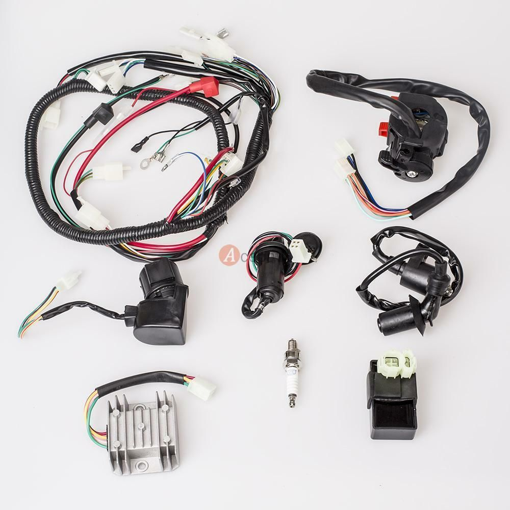 ebay advertisement full electrics gy6 125 150cc wire loom magneto stator atv quad wiring harness us [ 1000 x 1000 Pixel ]