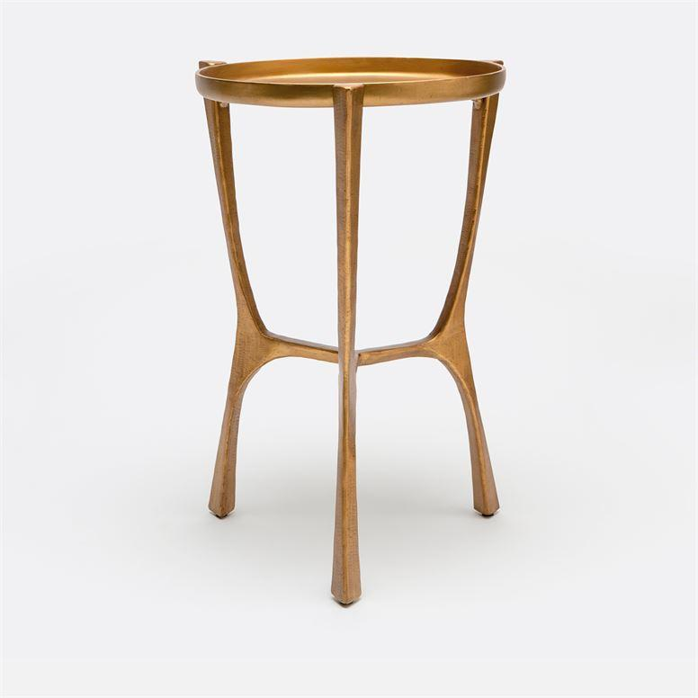 Addison Small Side Table Aged Brass Side Table Small Side Table