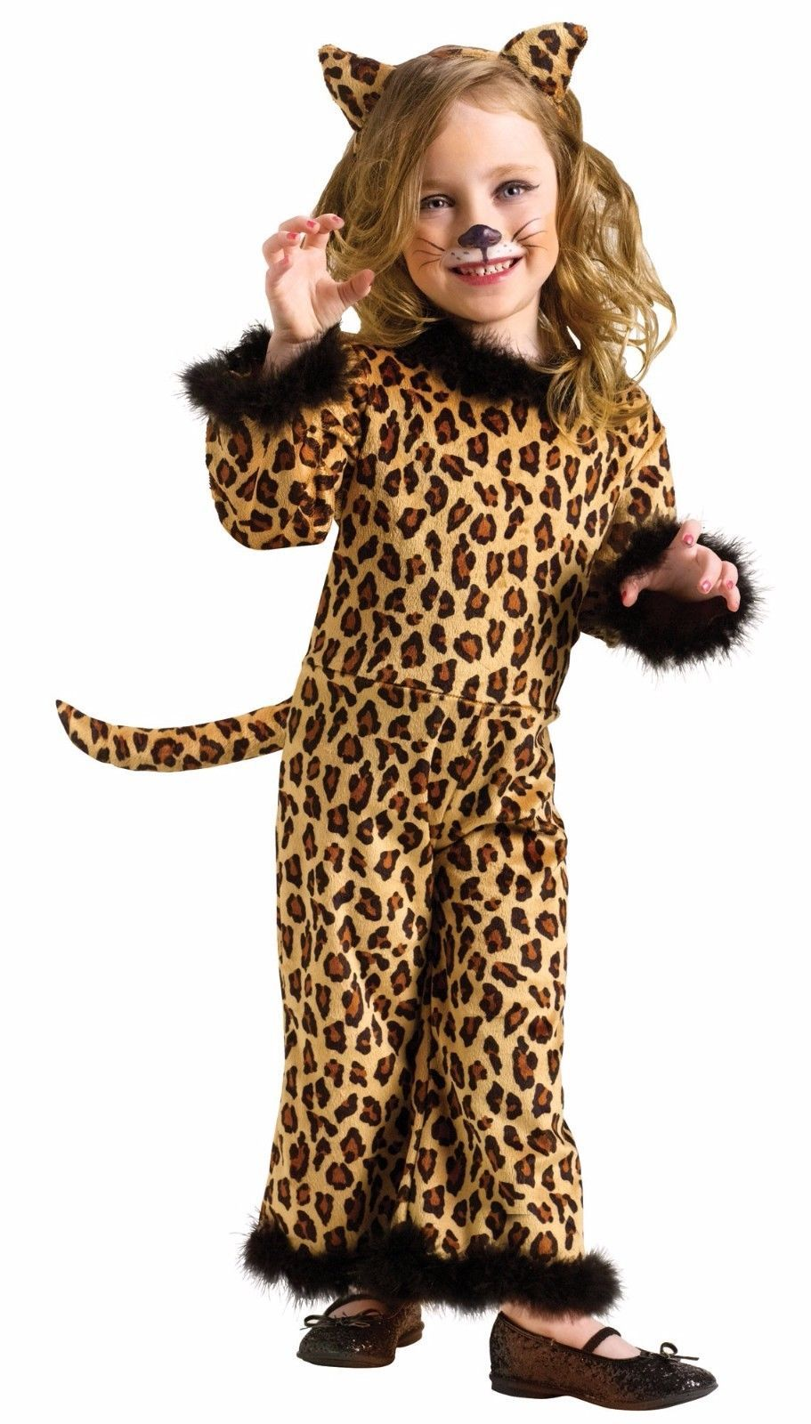 621dde178709 Details about Girls Leopard Costume Cat Toddler Child Cheetah ...