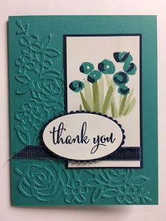 Love What You Do, Abstract Impressions, Springtime Impressions, Thank You Card, 2018-2019 Stampin' Up! Catalog