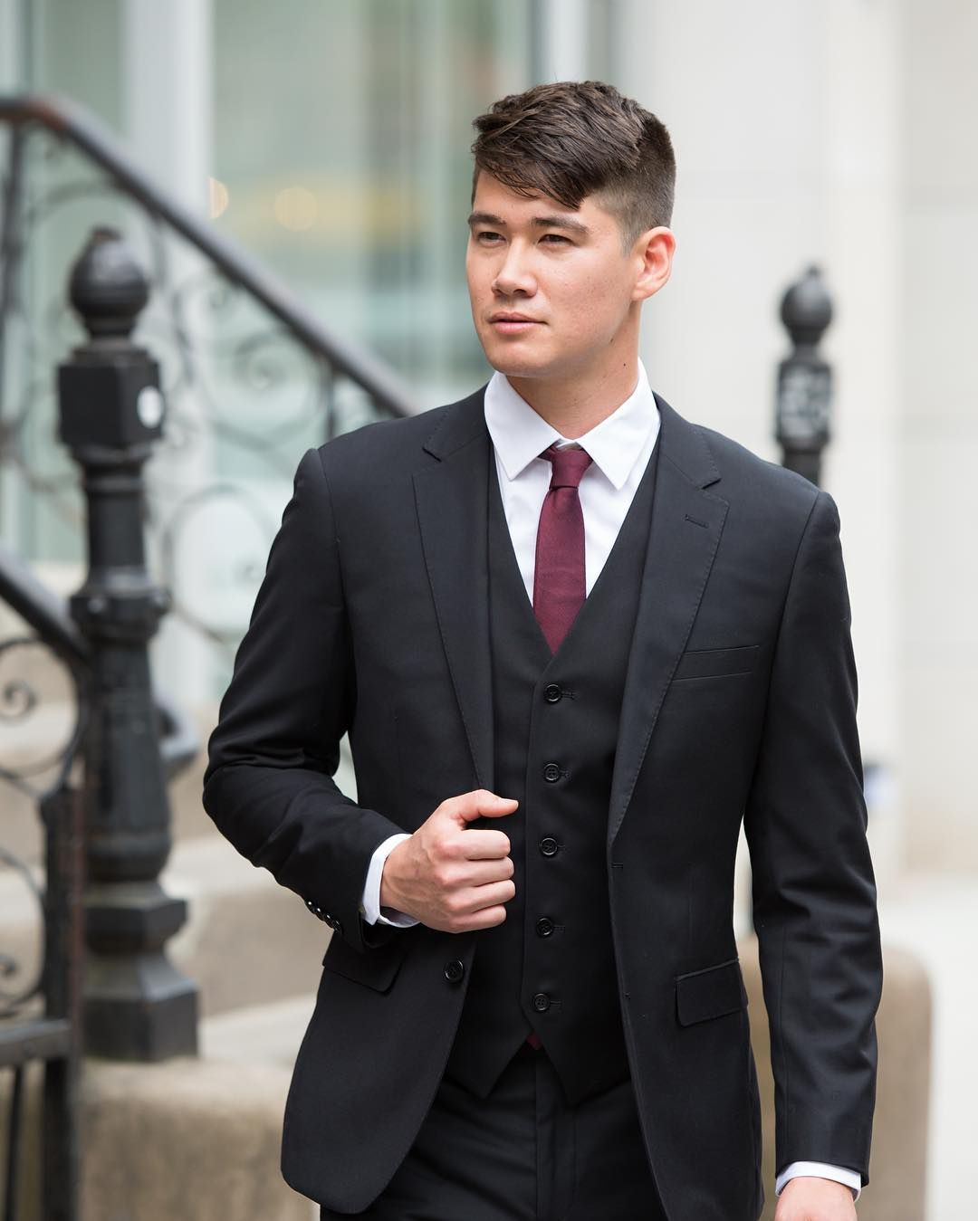 From The Wedding Into The Work Place Our Black Suit Is A Versatile Option Your Groomsmen And Bridesmen Will Wear Ag Groom Suit Black Classic Suit Black Suits