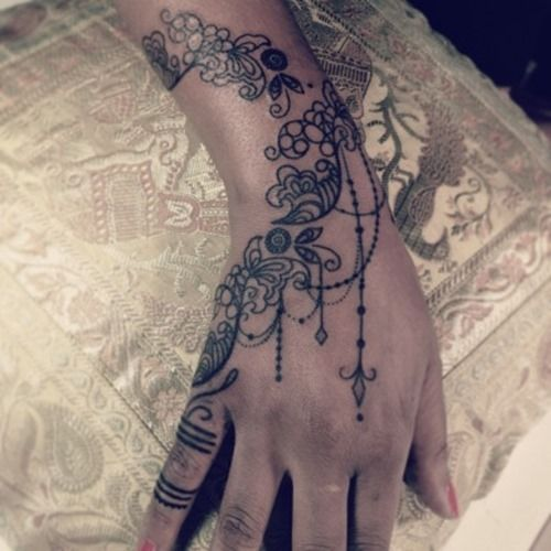 Delicate Henna/lace Tattoo