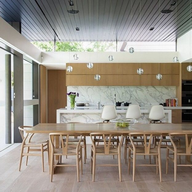 Marble + timber Kitchens Pinterest Marbles, Kitchens and Interiors