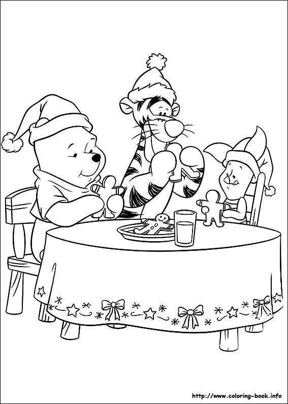 Christmas Friends coloring picture | Winnie the Pooh y amigos ...