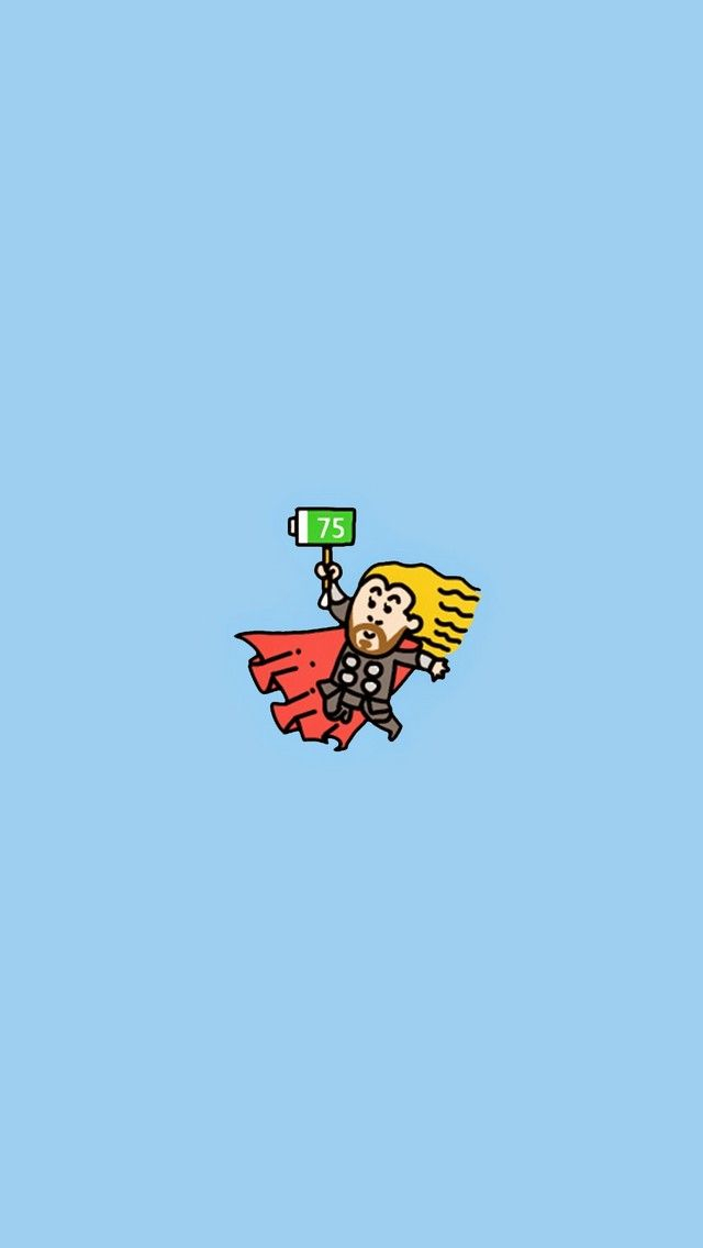 Thor Who Need A Charge For Your Phone Tap To See All Cute Avengers Age Of Ultron Doodle IPhone Wallpapers