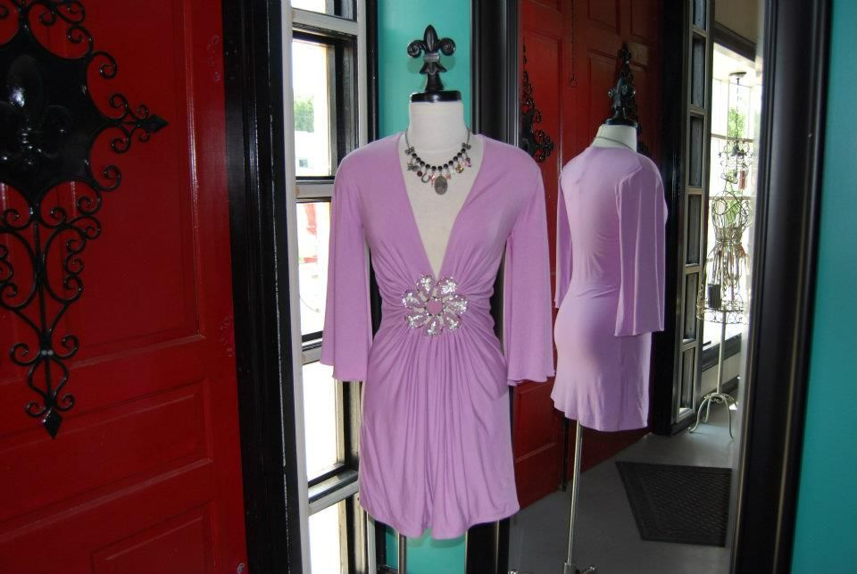 Lovely lavender Sky dress with crystals! Girle Boutique's got it girl!