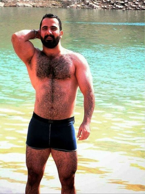 bears muscle and hairy