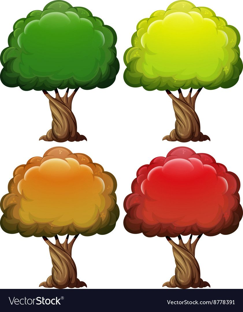 Tree With Color Leaves In Four Seasons Download A Free Preview Or High Quality Adobe Illustrator Ai Eps Autumn Leaves Art Craft Activities For Kids Leaf Art