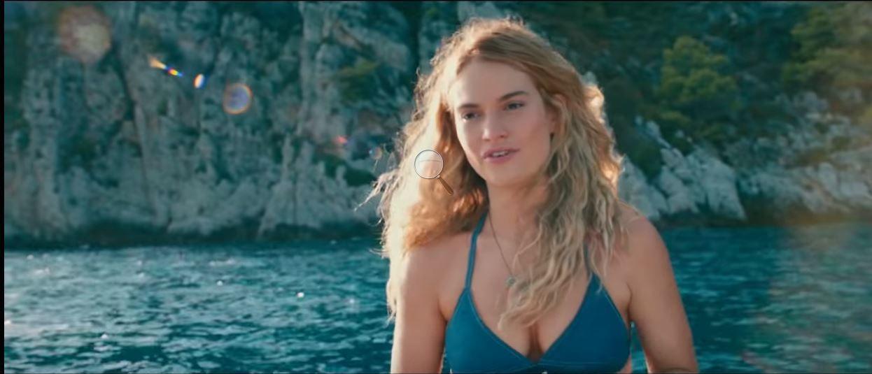 When We Were Young Again Alma Alexander Lily James Love Film Mamma Mia