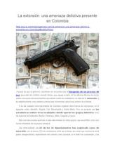 La Extorsión: Una Amenaza Delictiva Presente en Colombia