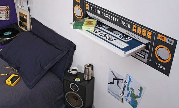 Cool Pictures of Music Themed Bedroom: Music Themed Bedroom Design With Wall Unit System ~ dmetree.com Bedroom Inspiration