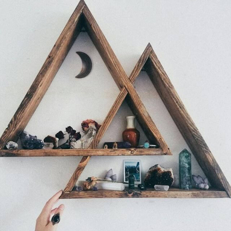 Mountain Triangle Shelf Geometric Wood Shelf Wood Triangle Wood Wall Shelf Feiplc Com Diy Home Decor Bedroom Baby Room Decor Decor