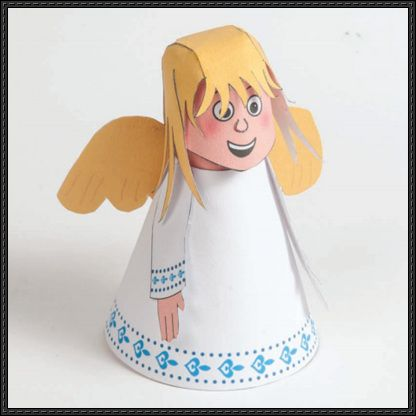 Pin by PaperCraft Square on Paper Craft Square Pinterest - angels templates free