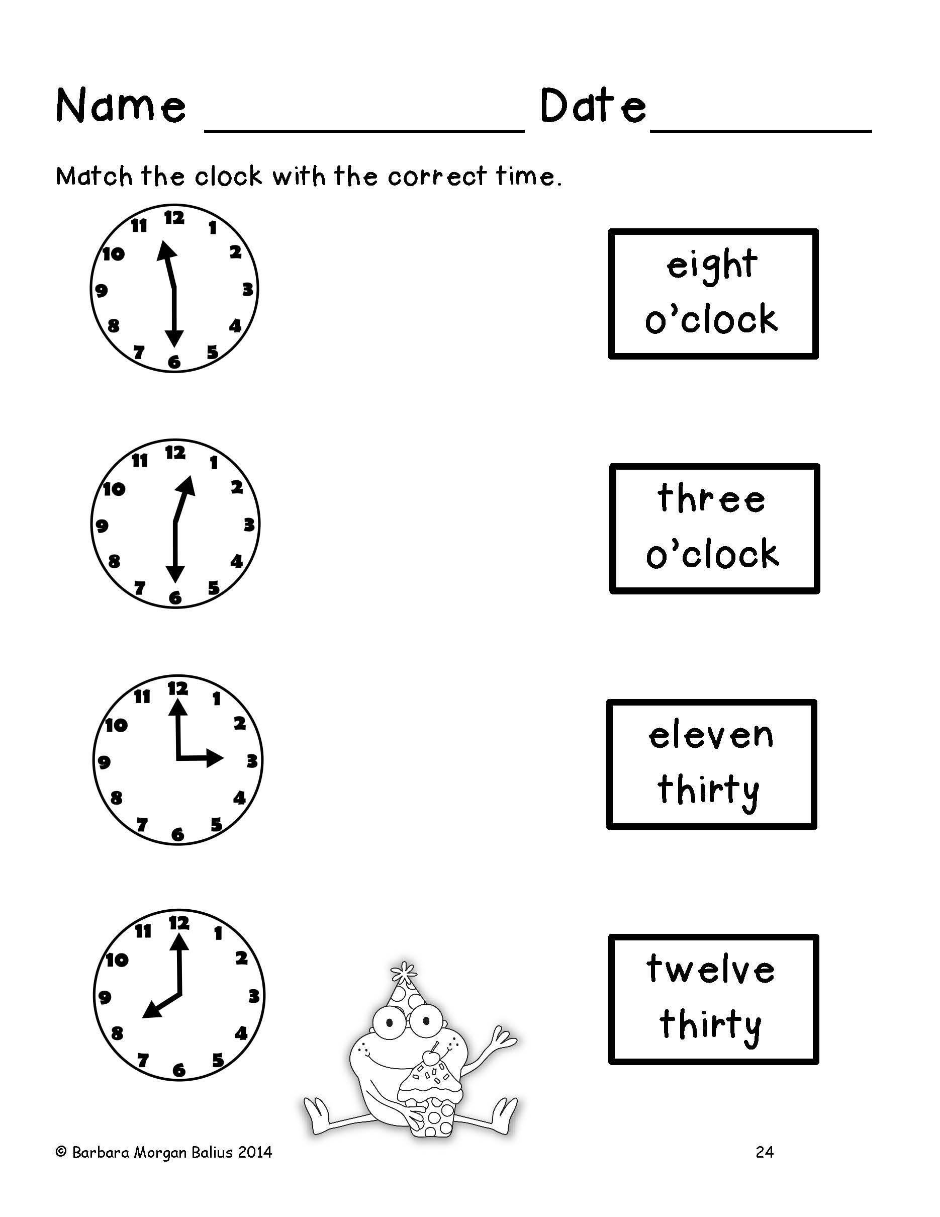 Frog Math Time And Money Math Time First Grade Math Math Activities Elementary [ 2420 x 1870 Pixel ]