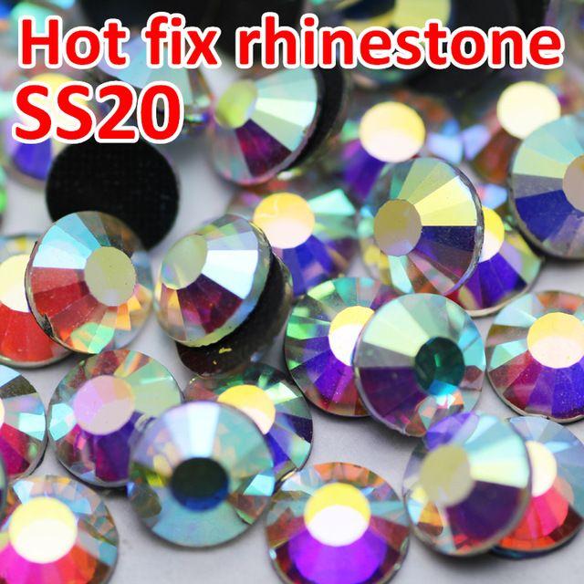 5ca937b48c SS20 1440pcs/Bag Crystal AB DMC Hot Fix FlatBack Rhinestones Strass ...
