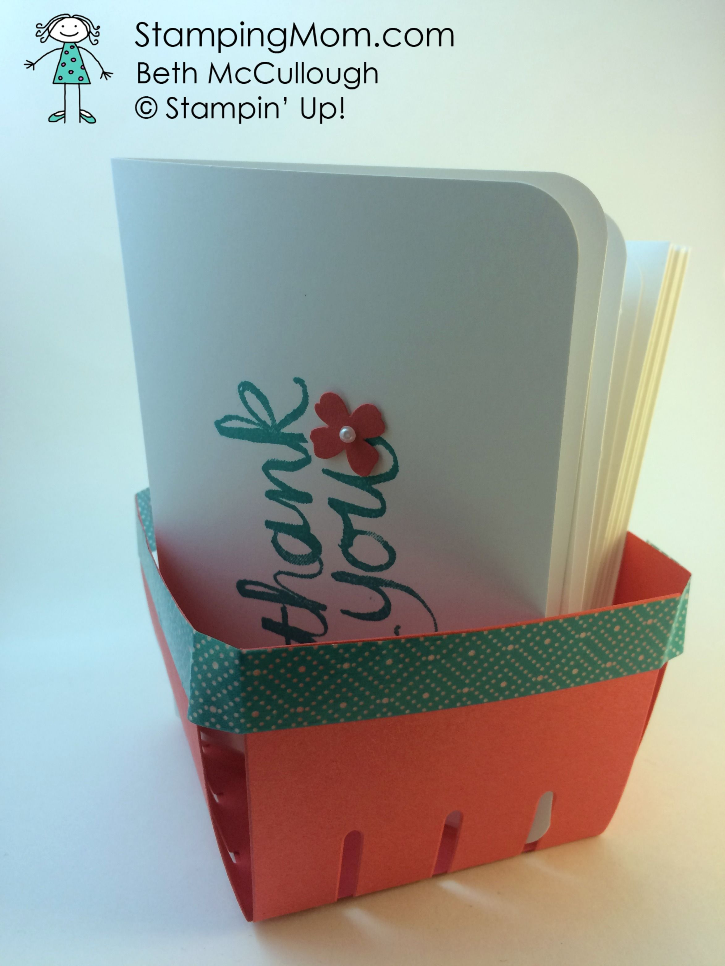 quick and easy thank you notes hostess gift berry basket diy