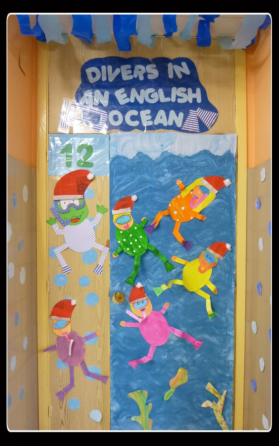 Classroom Decor Under The Sea : Our classroom under the sea themed door adapted for