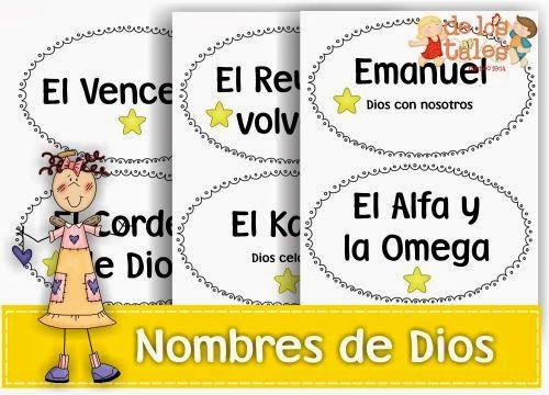 Los Nombres de Dios | craf biblicos | Pinterest | Sunday school ...