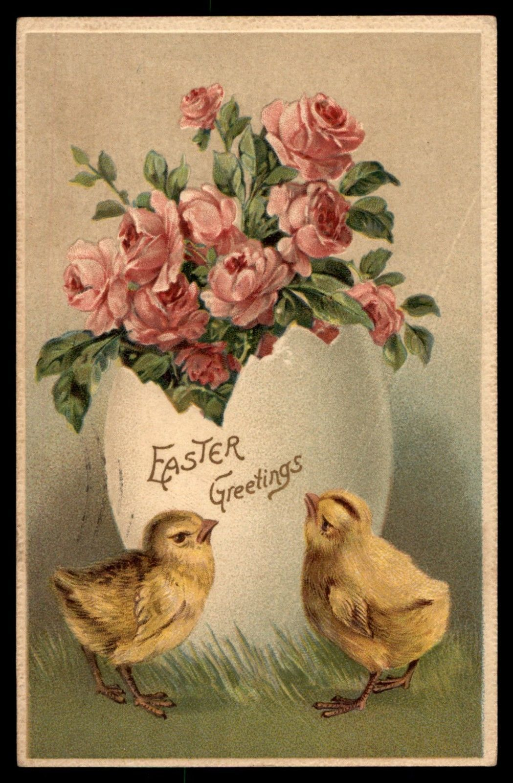 Antique 1900s Easter Holiday German Roses Embossed Postcard Ebay