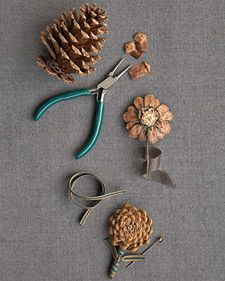 Pinecone Boutonnieres #pineconeflowers