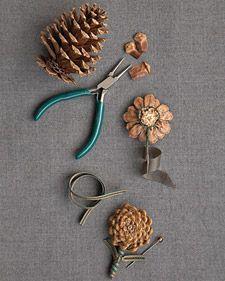 Pinecone Boutonnieres #pineconeflowers