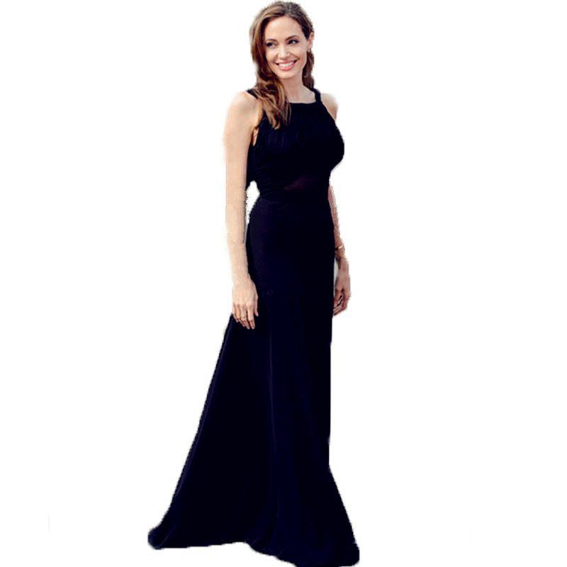 Vogue Best Dressed Celebrity Dresses Fashion Angelina Jolie Black ...