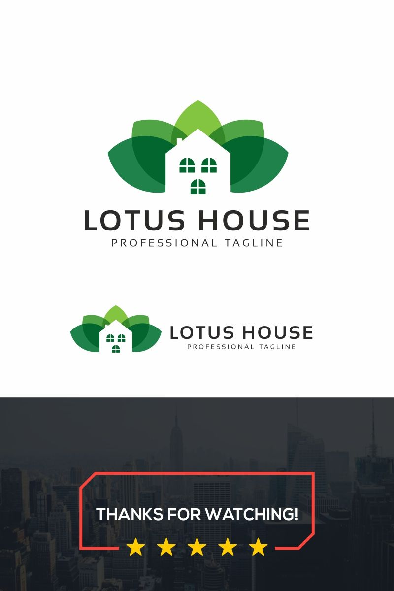 Lotus House Logo Template 86782 (With images) Logo