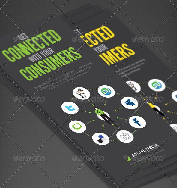 Social Media Print Template Packages Brosur Pinterest Business
