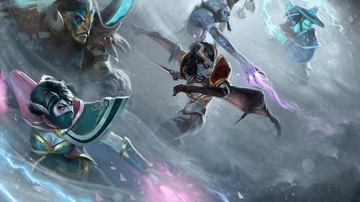 Dota 2 Lanaya Storm Spirit Templar Assassin Witch