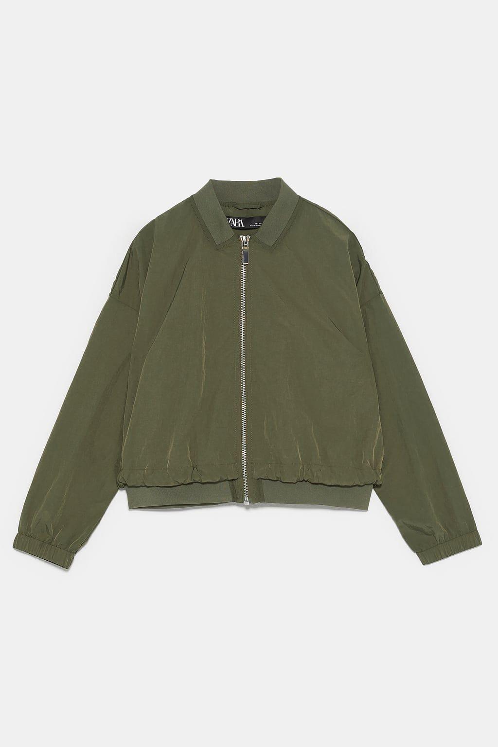 cd7e1722f Contrast bomber jacket in 2019 | Spring 20 PJ | Jackets, Bomber ...