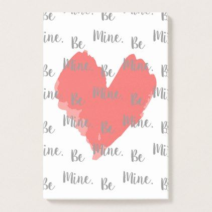 Be Mine Valentine Post It Notes. Post It Notes