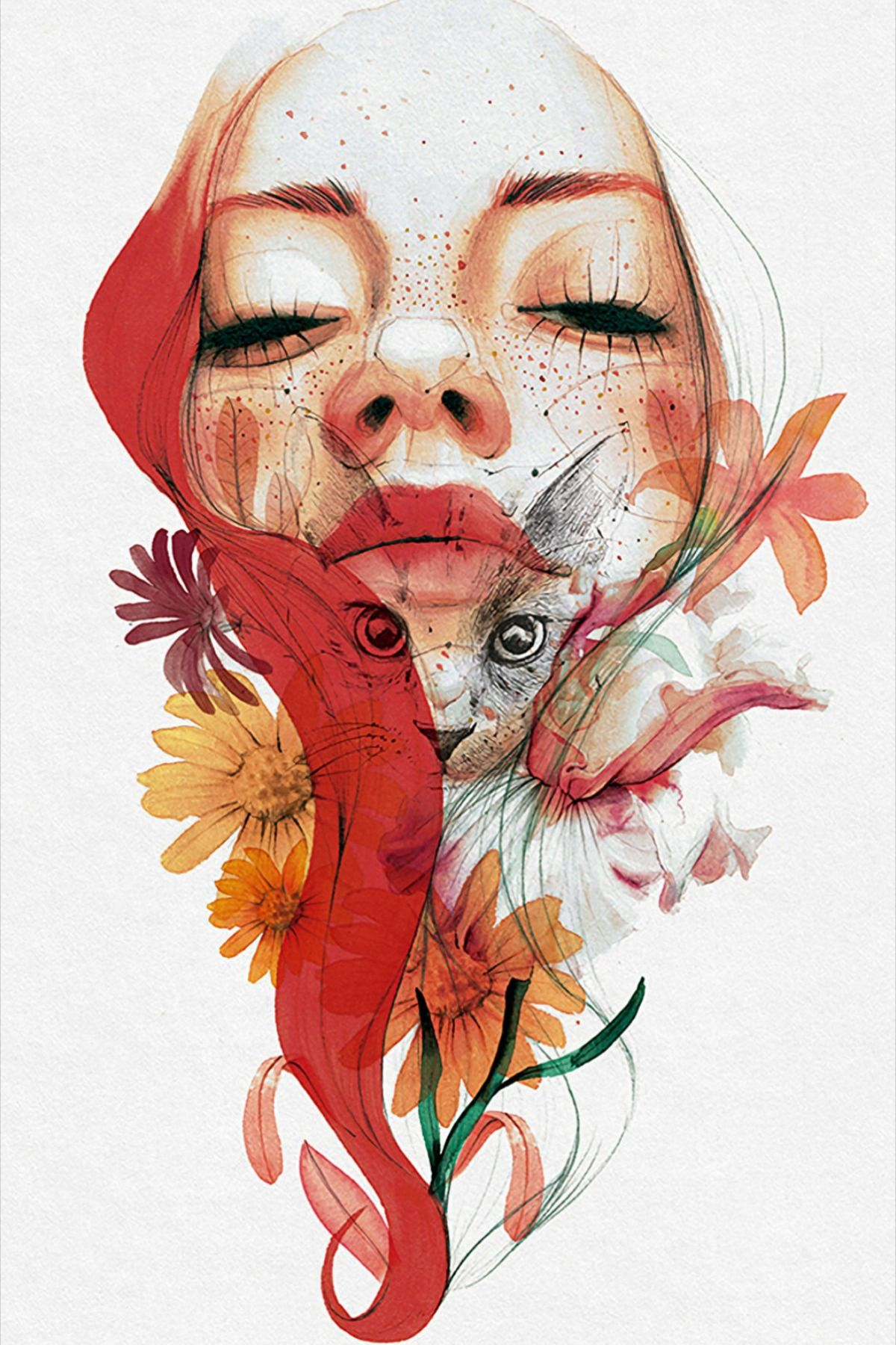 """Illustrated Portrait in Watercolor"" - Illustration online course by Ana Santos 