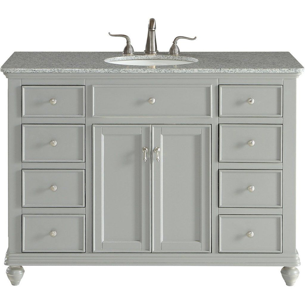Otto 48 X 35 8 Drawer 2 Door Vanity Cabinet Light Grey Finish Vf12348gr Single Bathroom Vanity Bathroom Vanity Vanity