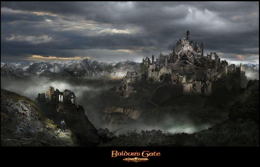 Dragonspear Castle By Uncannyknack On Deviantart Fantasy Castle Gate City Baldur S Gate