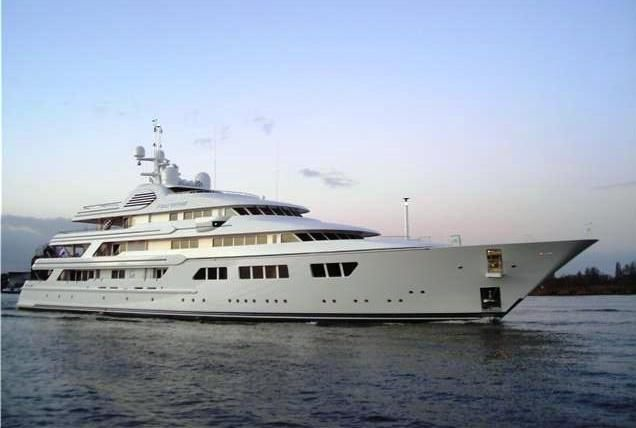 """In THE STOLEN CHALICE, this Feadship is the yacht owned by Lady Xandra Sommerset. Its not the """"Good Ship Lollipop"""" by any stretch of the imagination."""